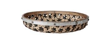 bambubricka med metallring