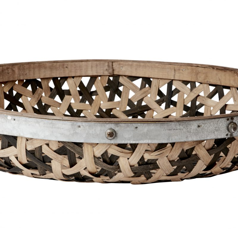 Bambubricka med metallring XL