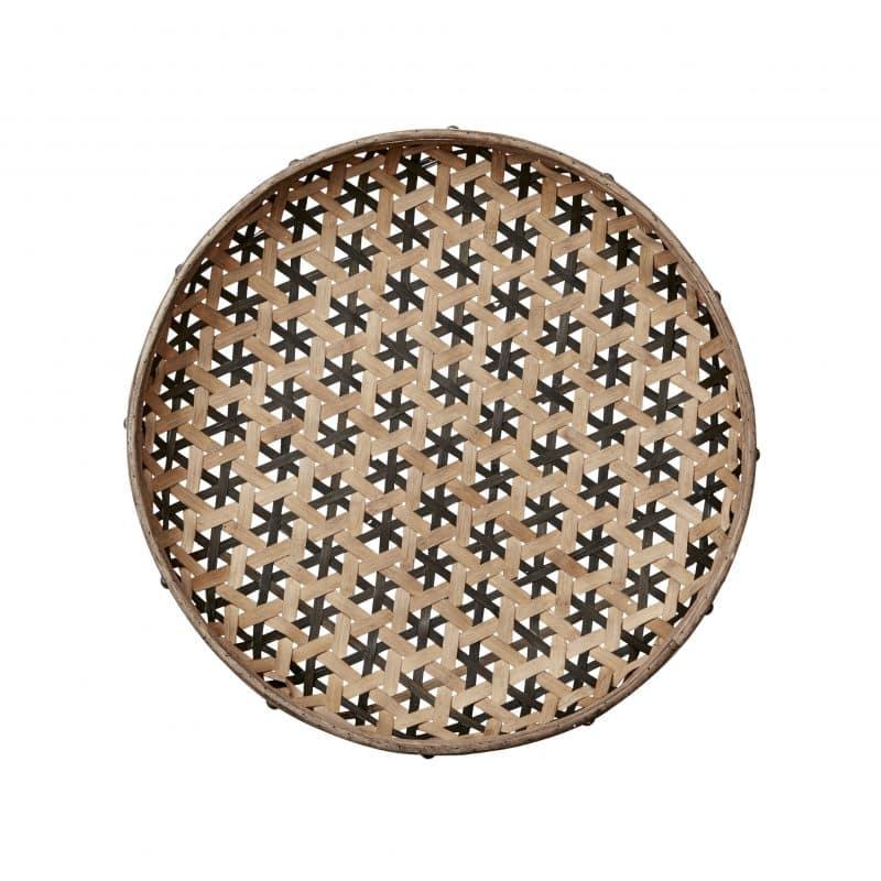Bambubricka med metallring S