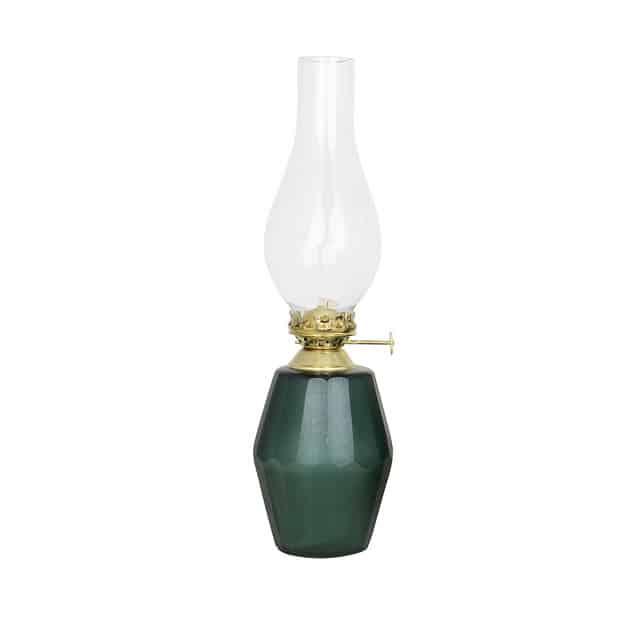 Ebba fotogenlampa mörkgrön/antik mässing