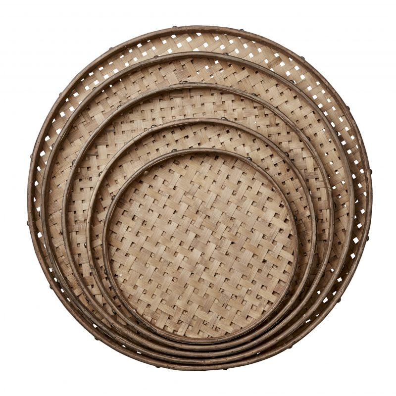 Bambubricka, natur och metallring XL