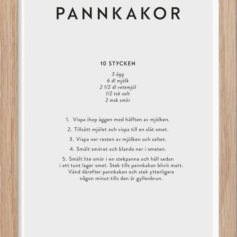 Pannkakor Miniposter A5