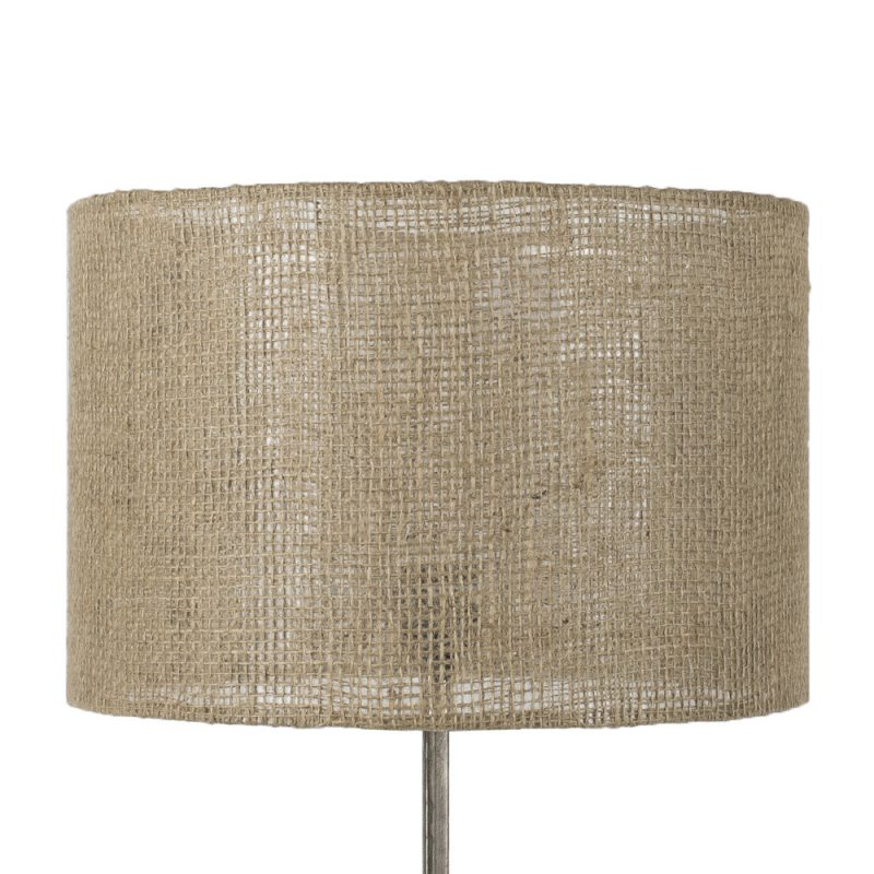 Bordslampa Glasfot med juteskärm