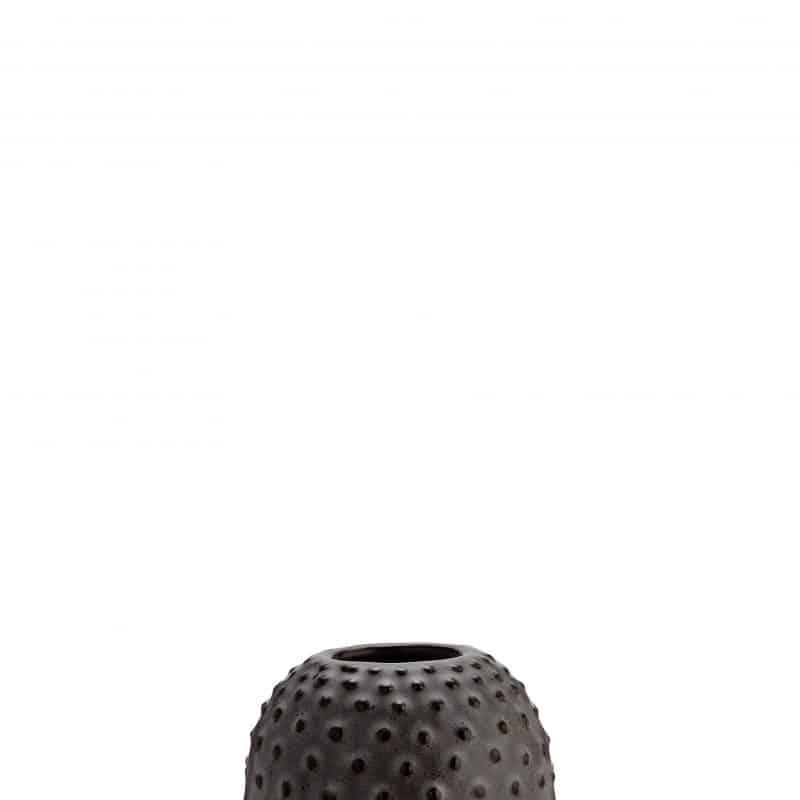 Stoneware vase w/dots