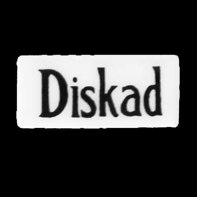Diskat/Odiskad emaljskylt