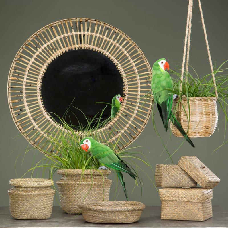 Ampel i bambu och jute