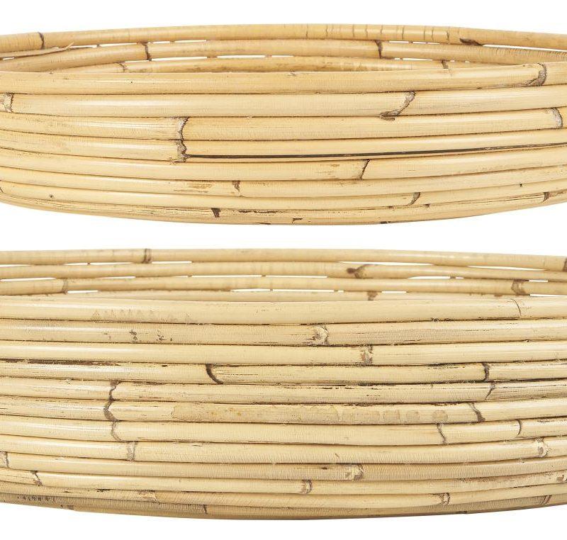 Bambubricka med kant liten