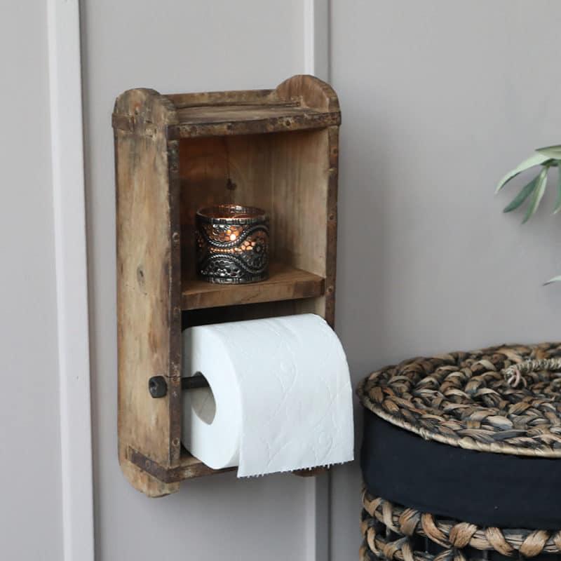 Toalettpappershållare av murstensform