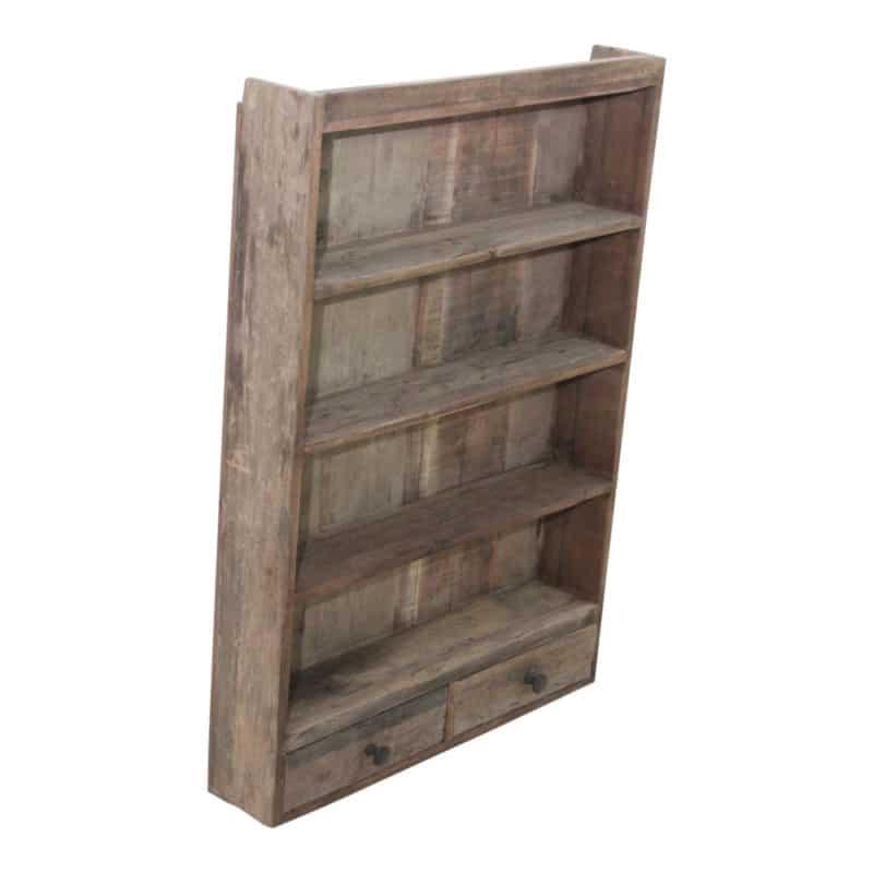 Vägghylla med två lådor
