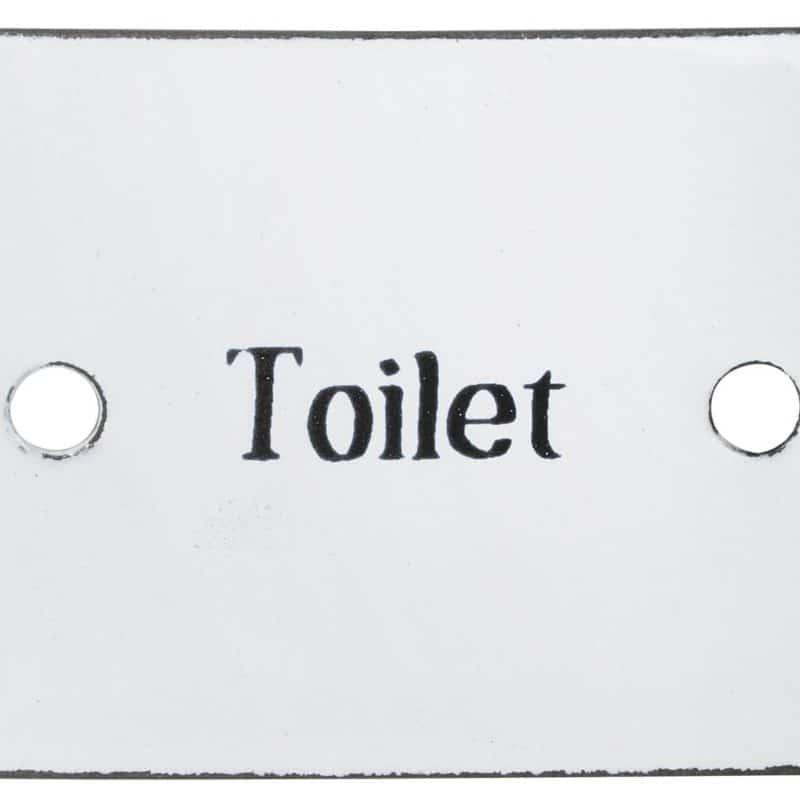 Toilet emaljskylt
