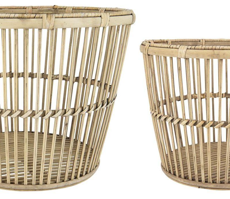 Korg stabil bambu liten