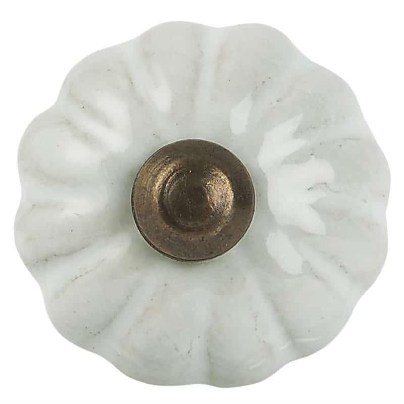 Knopp vit liten IB