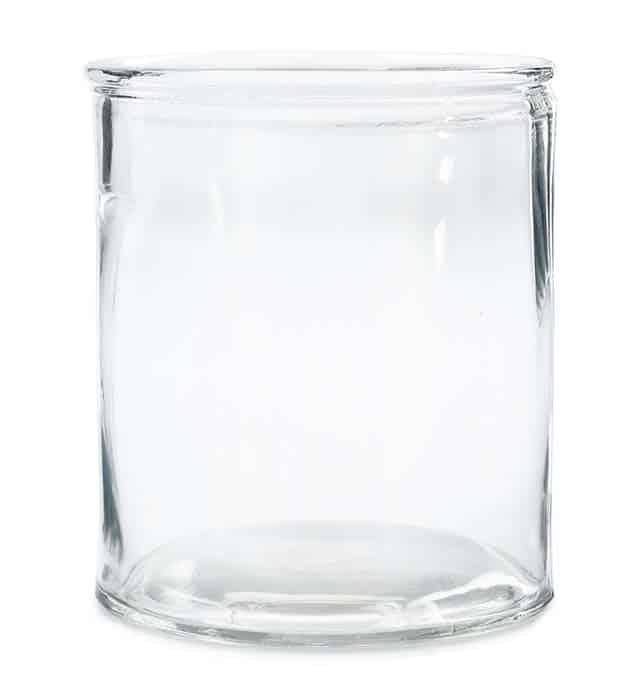 Cylindervas glas 15x18cm H