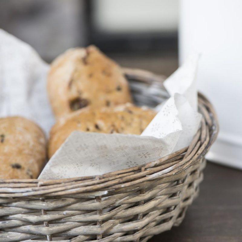 Brödkorg flätad