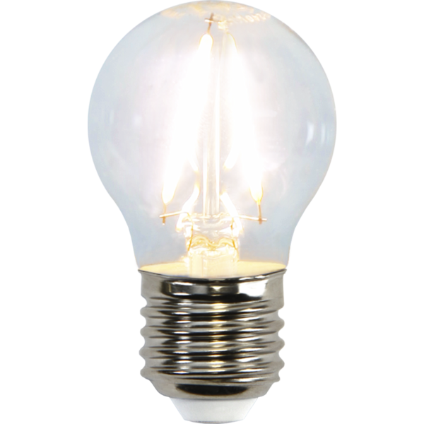 LED-LAMPA CLEAR 45mm Varmvit